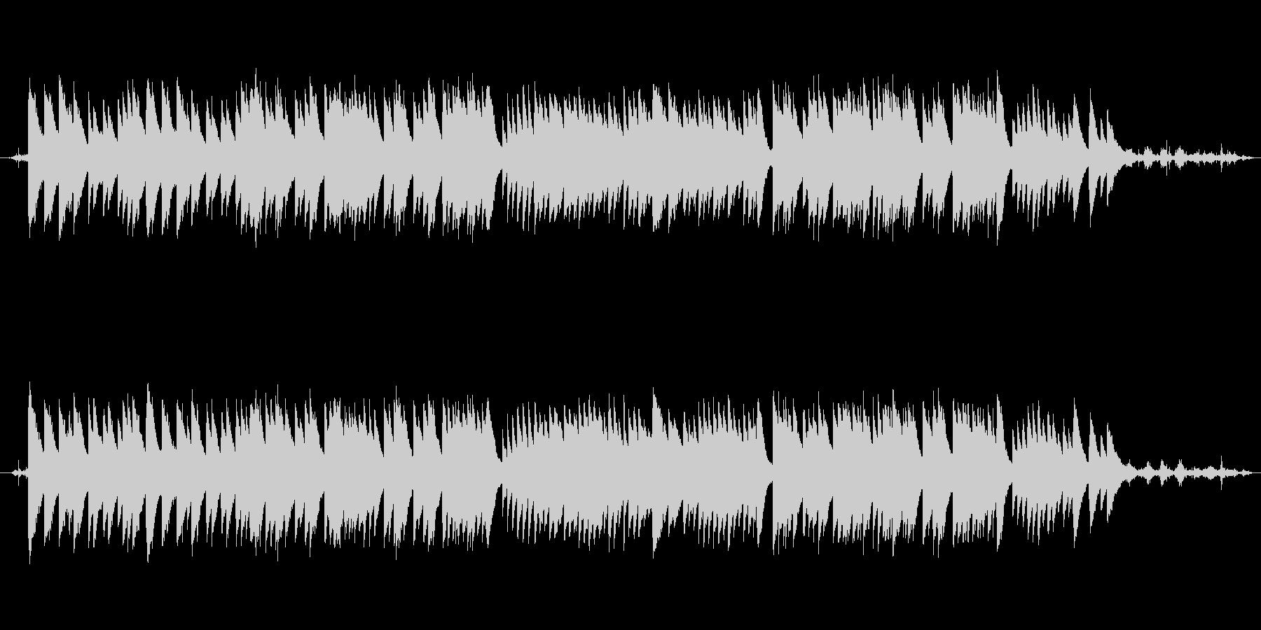 穏やかな波音と癒しのオルゴールの未再生の波形