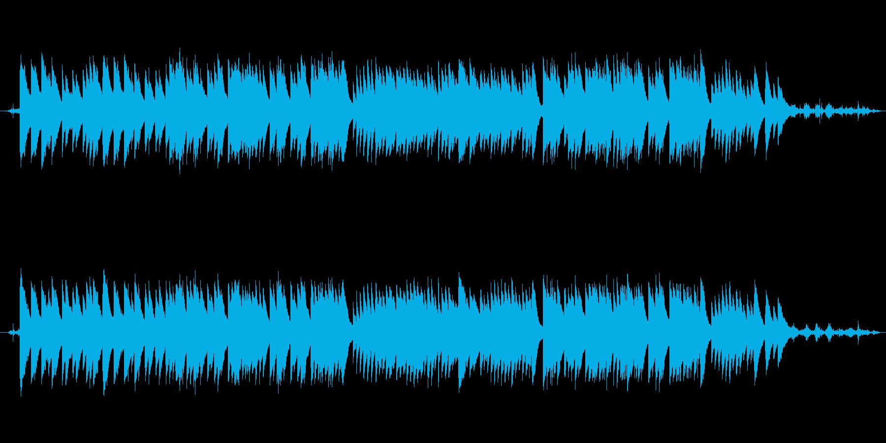 穏やかな波音と癒しのオルゴールの再生済みの波形