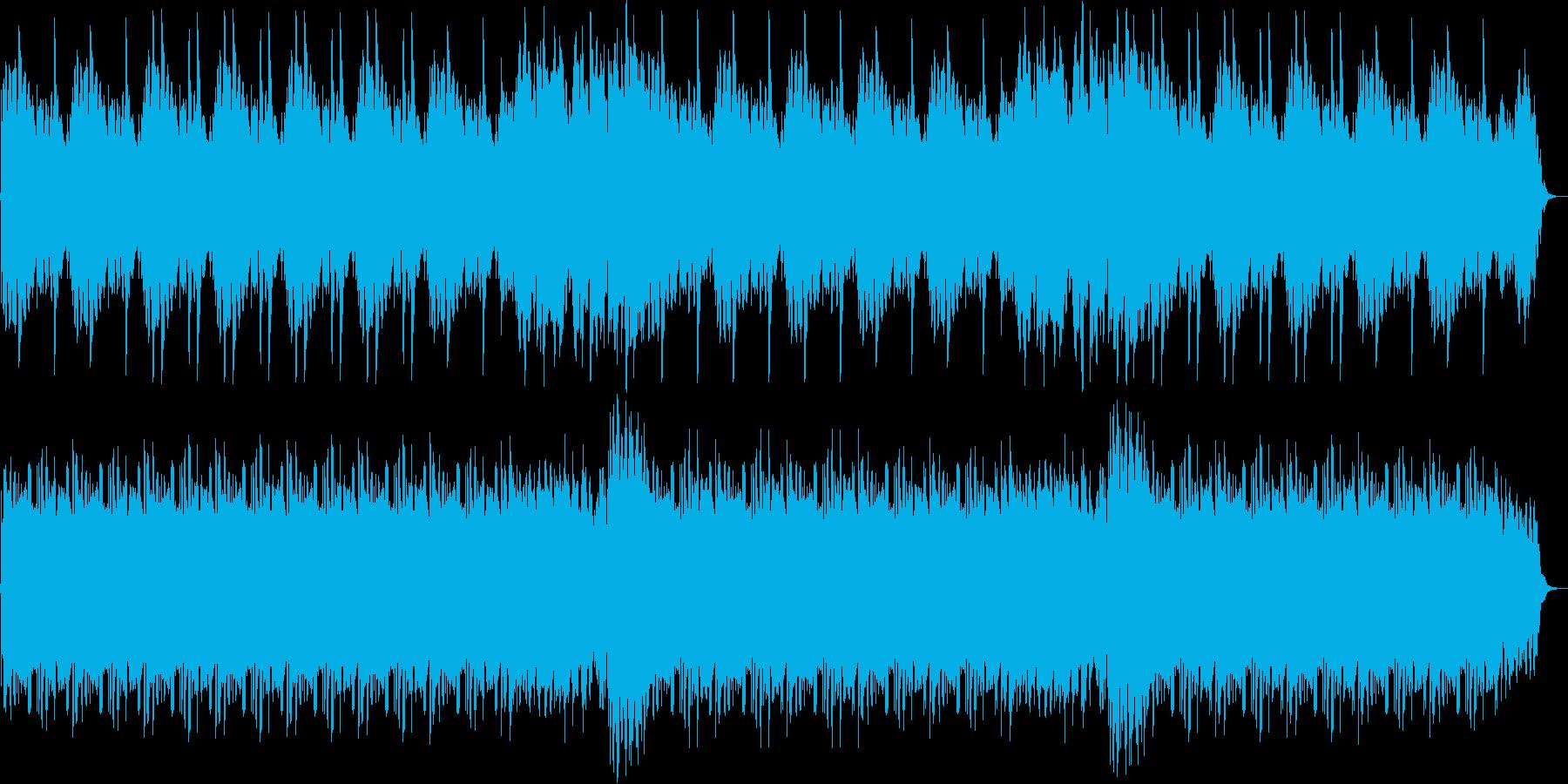 睡眠用BGM向けの優しい環境音楽の再生済みの波形