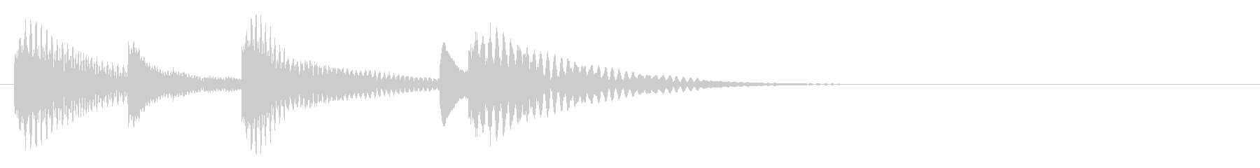 木琴 可愛い 優しい 日常 ジングル の未再生の波形