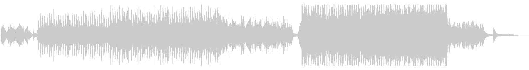 切ないピアノと弦のサウンドスケープの未再生の波形