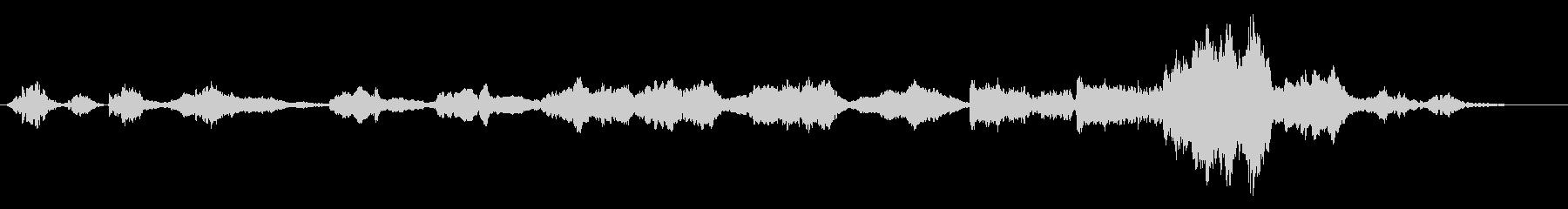 静かな情景向けのオーケストラの未再生の波形