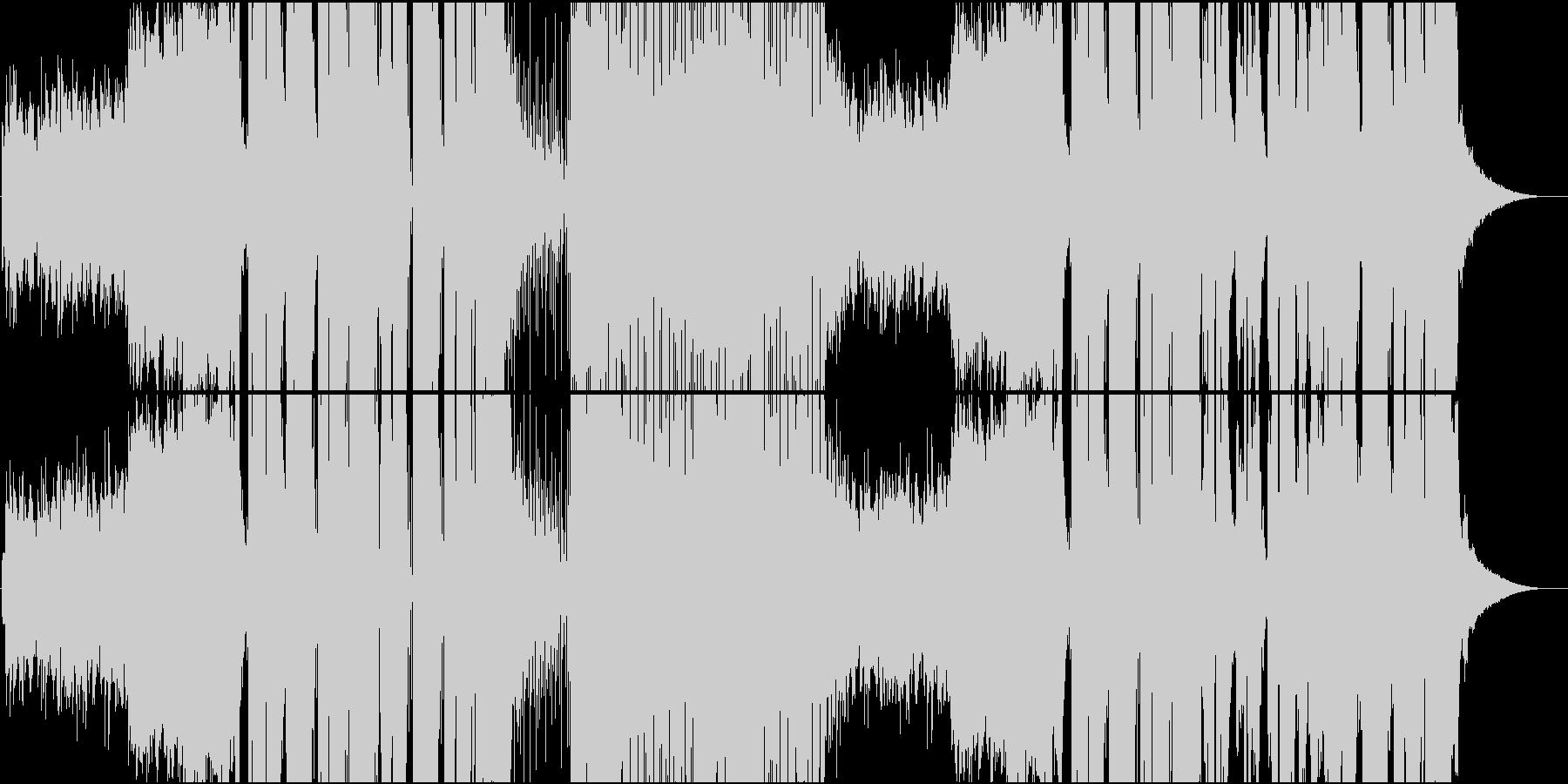 起伏の激しい和風Future Bassの未再生の波形