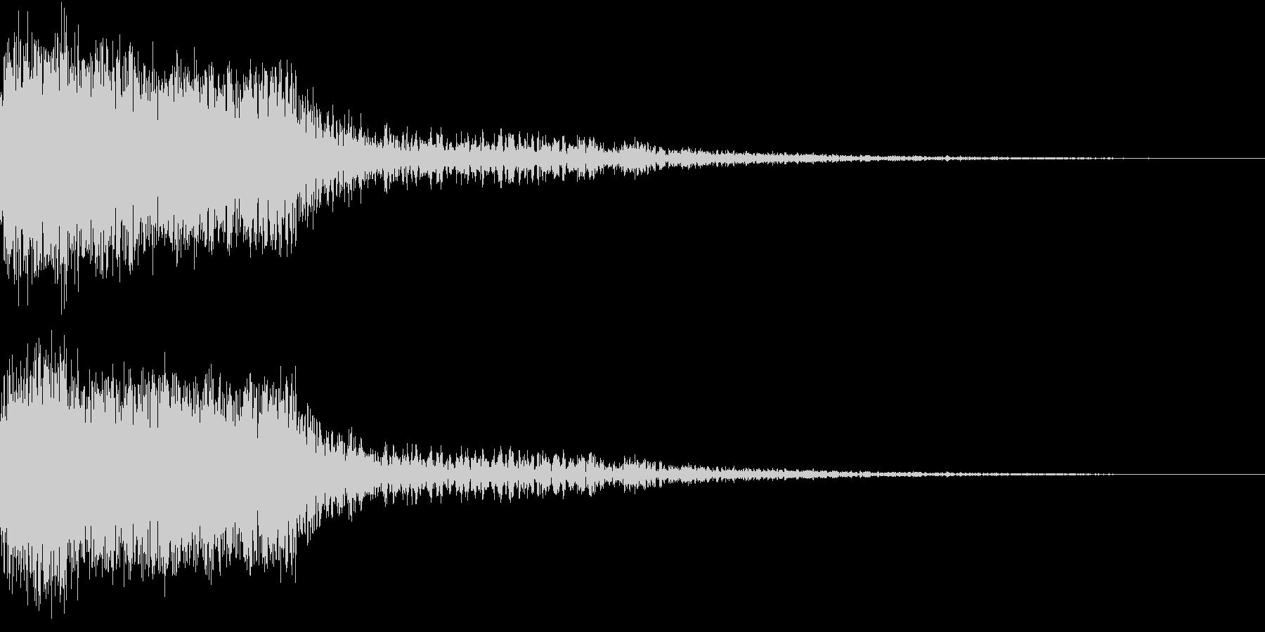 衝撃 金属音 恐怖 震撼 ホラー 23の未再生の波形