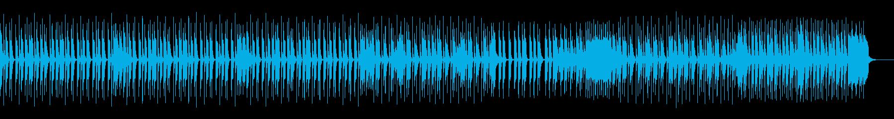 ギターとドラムによるポップスの再生済みの波形