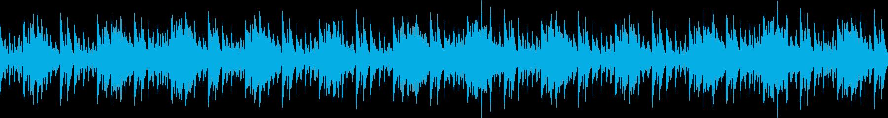 癒しの雰囲気のBGMの再生済みの波形