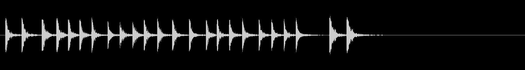板金ハードへのハンマーの未再生の波形