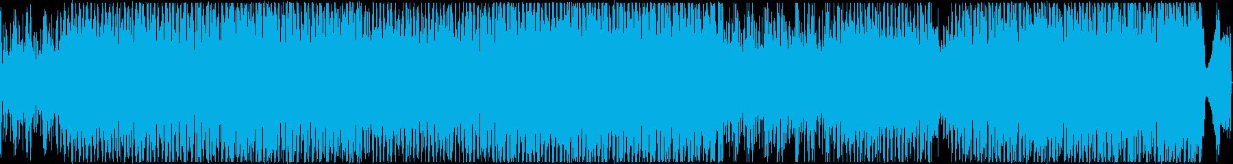 ギターとシンセサイザーのループの再生済みの波形