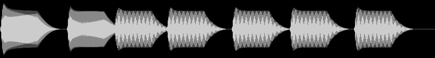 往年のRPG風 セリフ・吹き出し音 13の未再生の波形