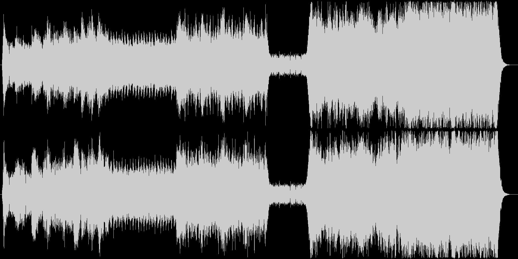 シンセ、ロック、シンフォニックの融合の未再生の波形