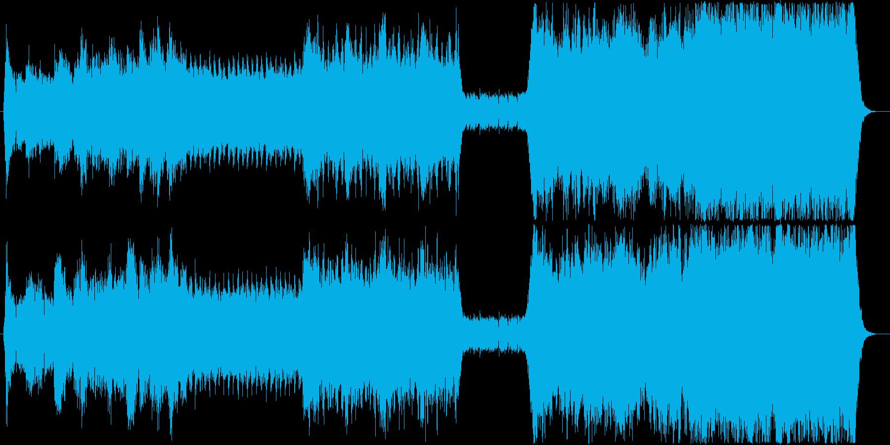シンセ、ロック、シンフォニックの融合の再生済みの波形