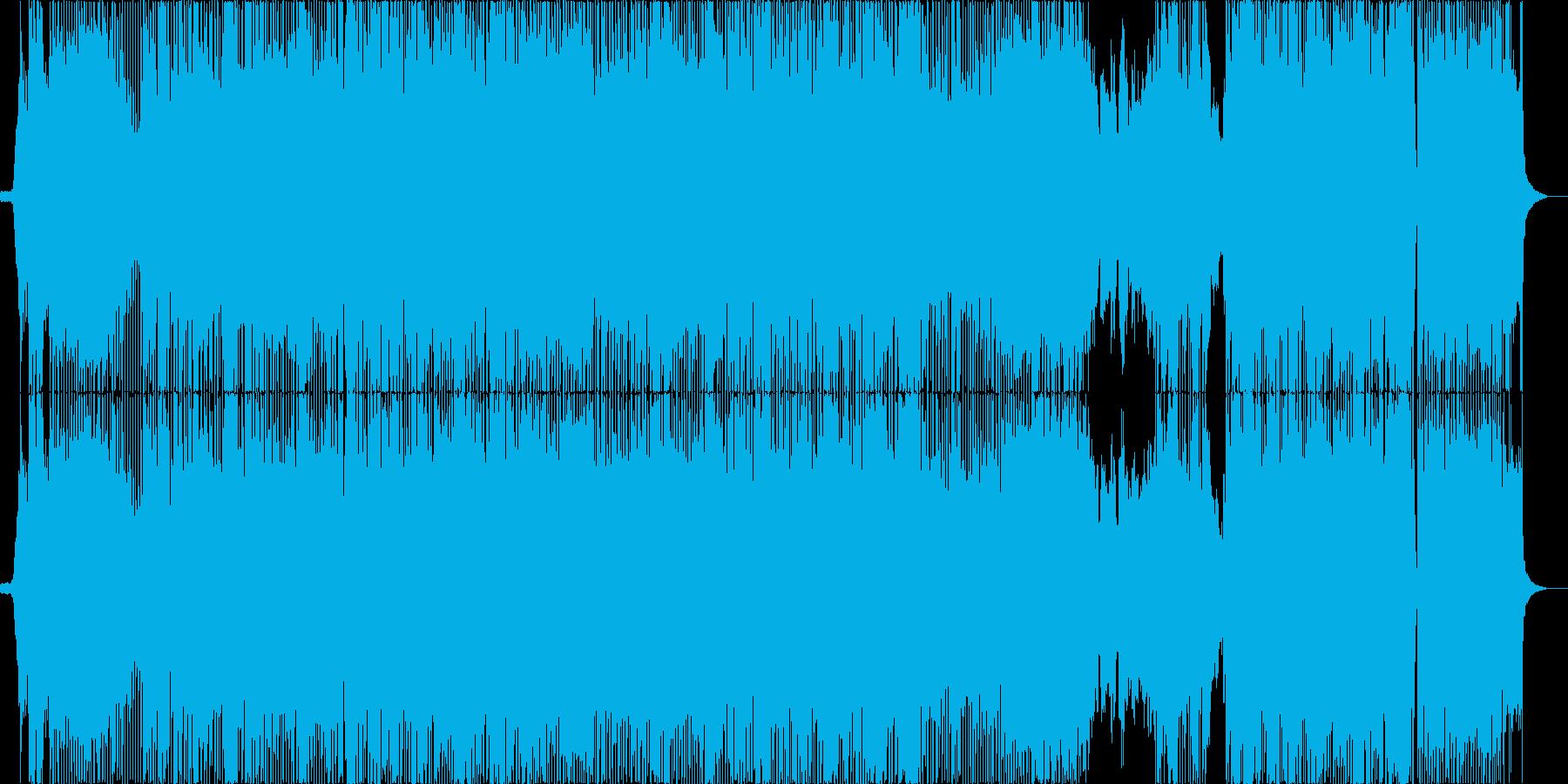 アニメ主題歌風のクールなロック_女性Voの再生済みの波形