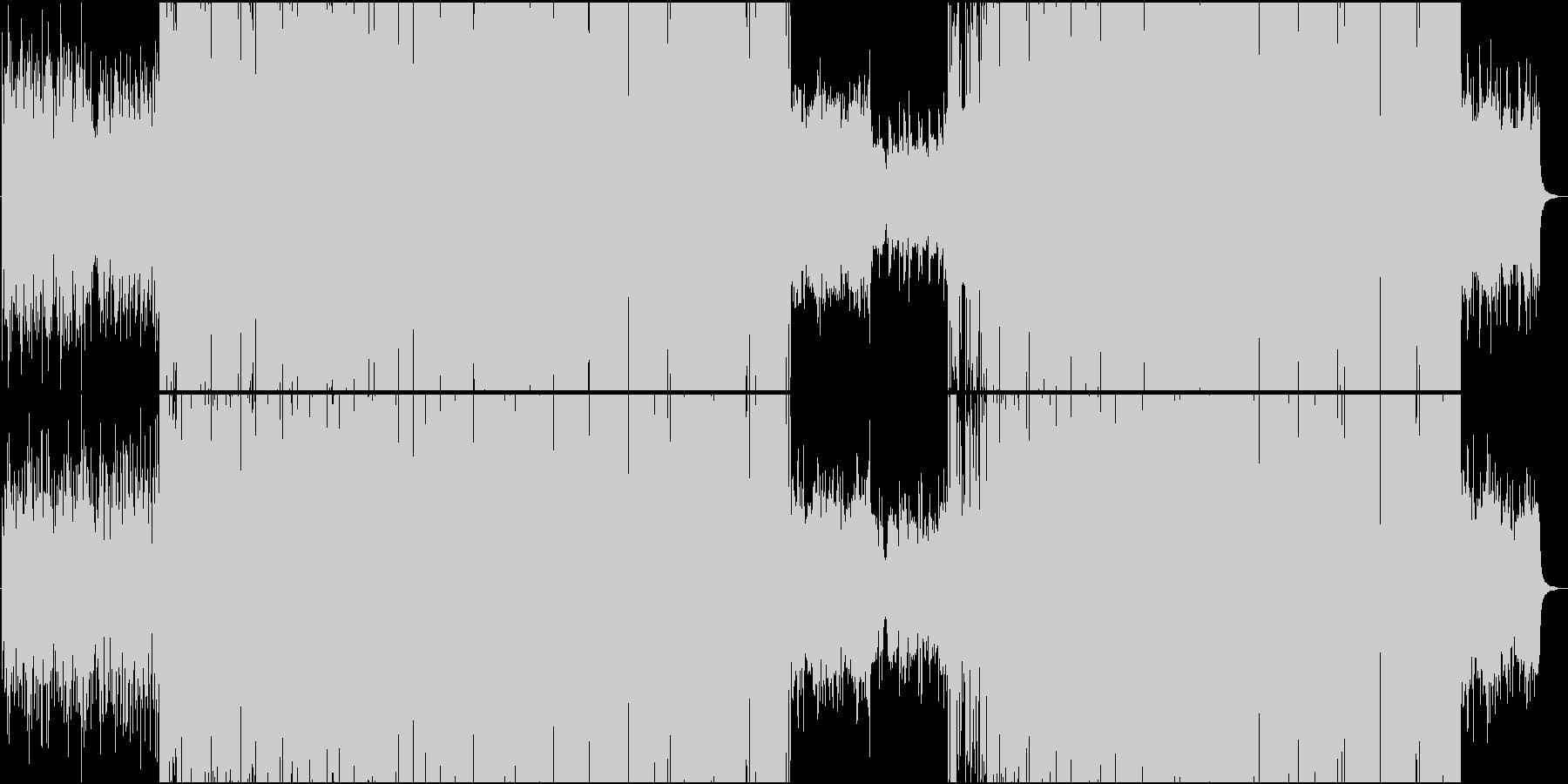 壮大でメロディックなハウス楽曲の未再生の波形