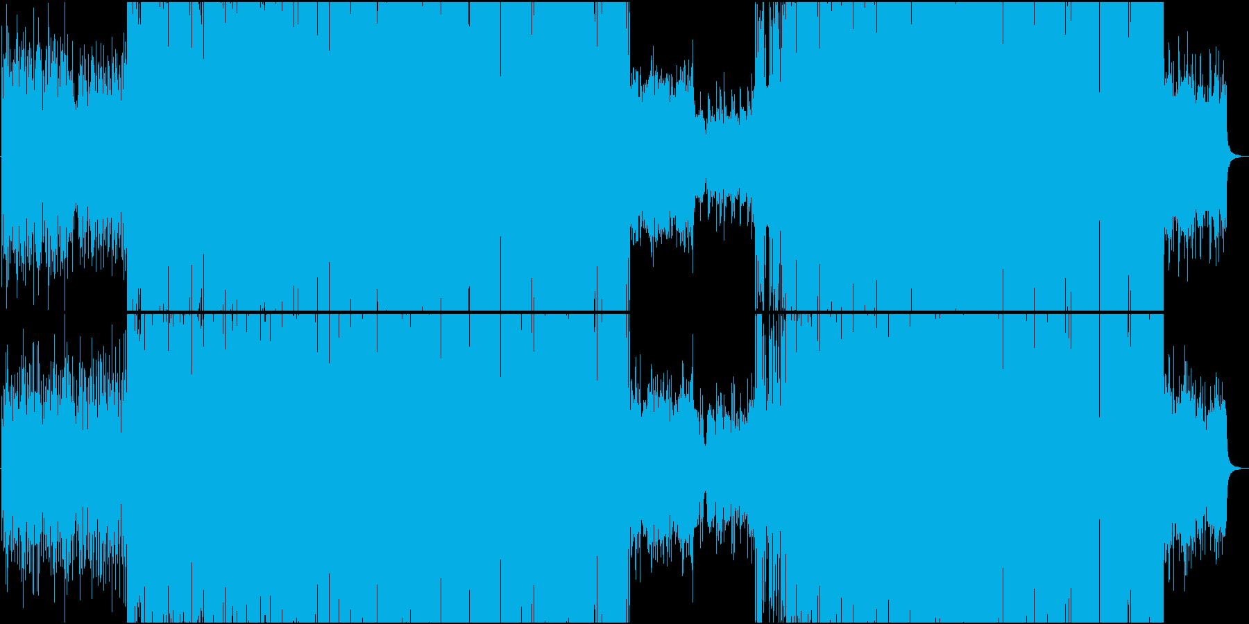 壮大でメロディックなハウス楽曲の再生済みの波形