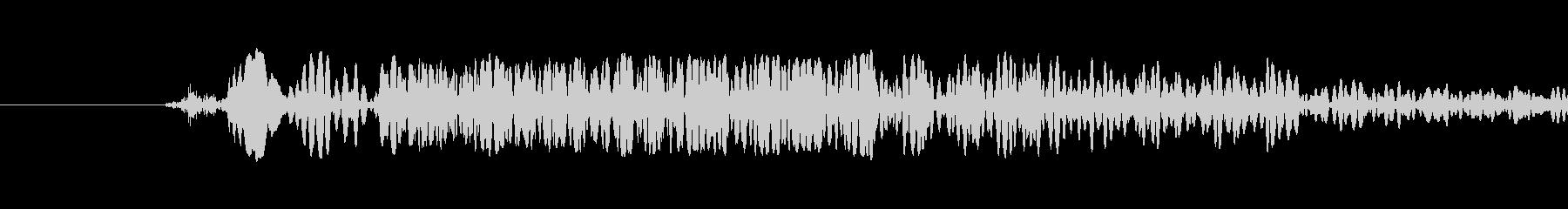 打撃音2の未再生の波形
