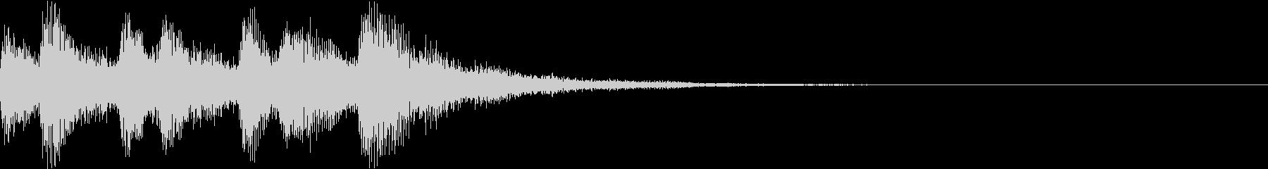 ショート ファンファーレ ベル ブラスAの未再生の波形