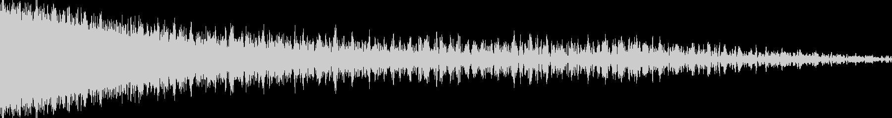 シューン(ワープ音、ビーム発射音)の未再生の波形