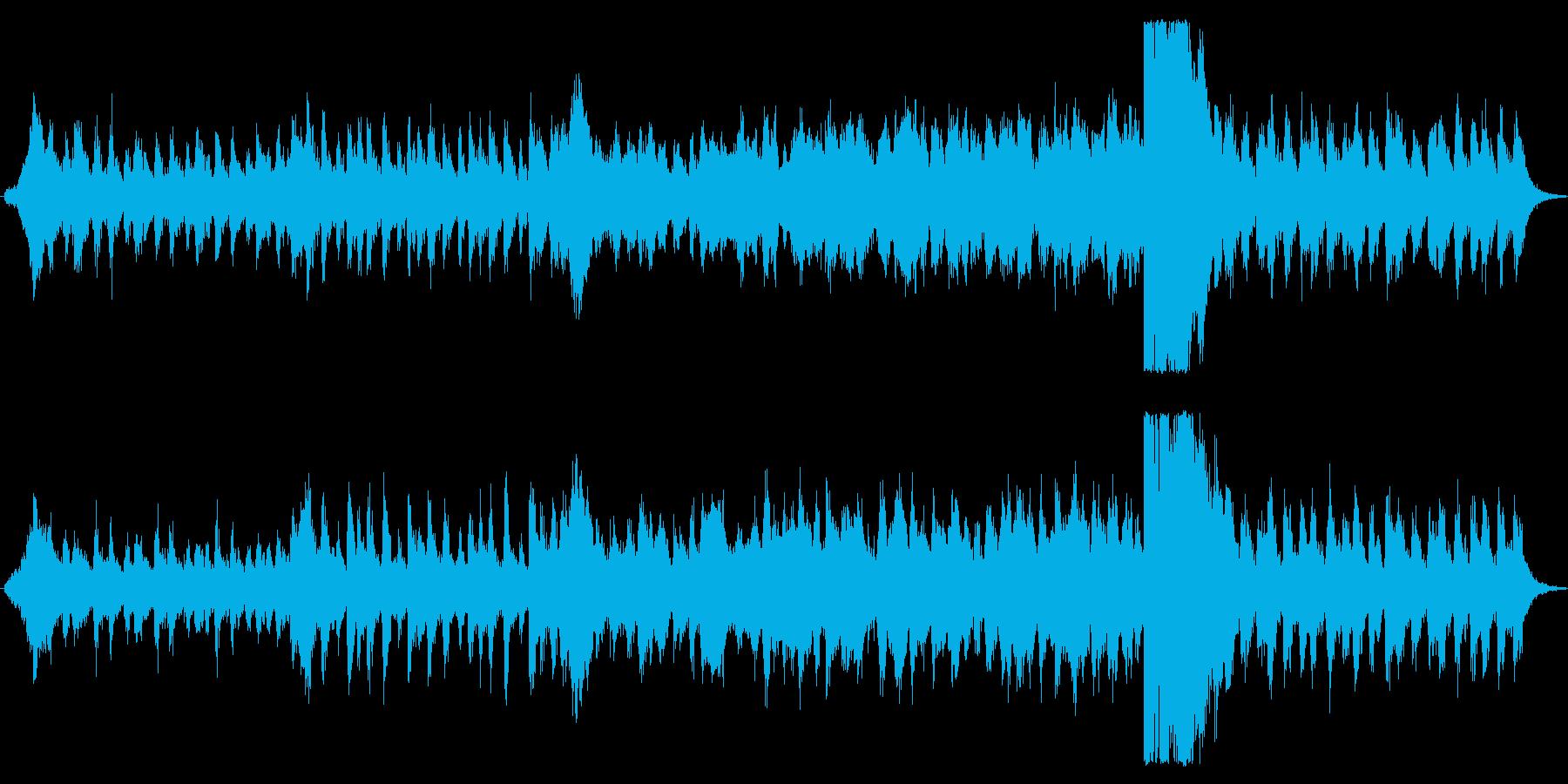 追跡シーンのスビート感と緊張さを表現し…の再生済みの波形