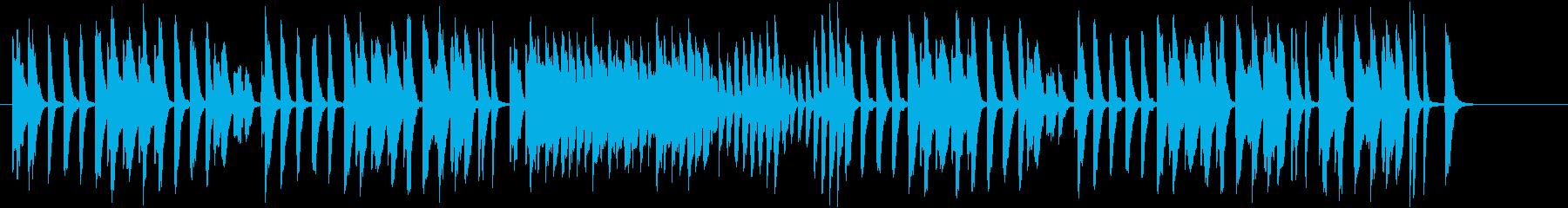 料理/子供・キッズ/軽いピアノ曲の再生済みの波形