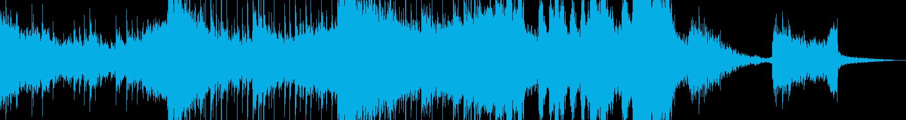 近未来的でダークなエレクトロニカの再生済みの波形
