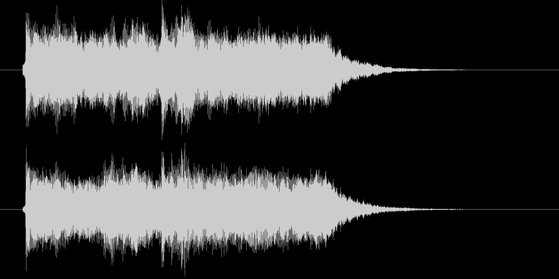 清々しいバイオリンとマラカスによるBGMの未再生の波形