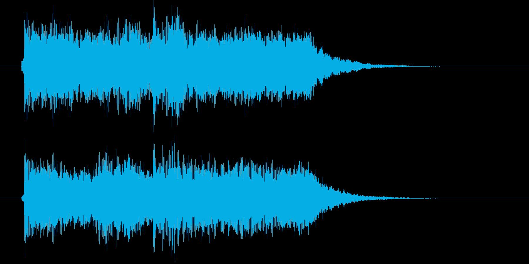 清々しいバイオリンとマラカスによるBGMの再生済みの波形