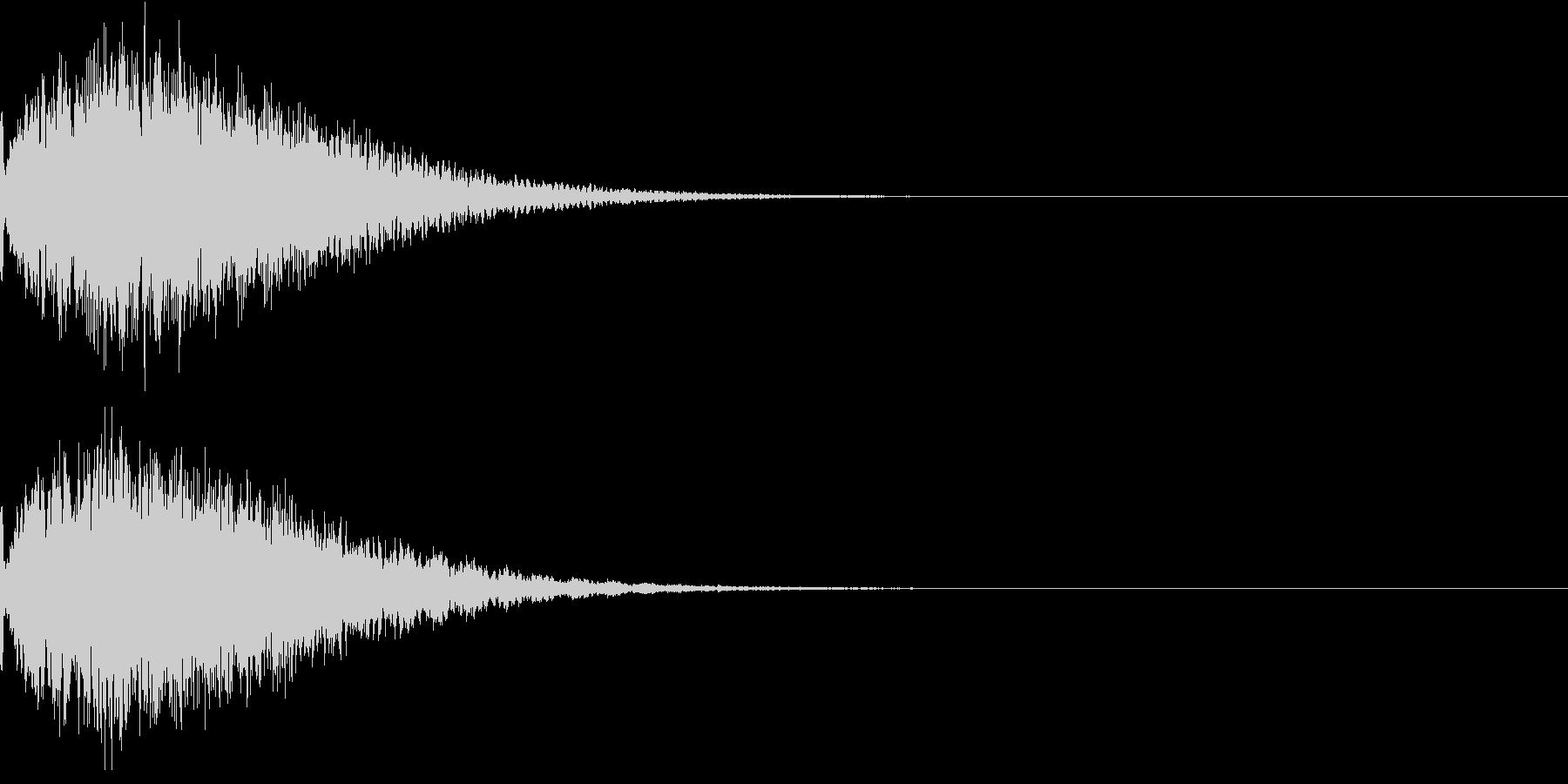 光 キュイン 目立つ カットイン 05の未再生の波形