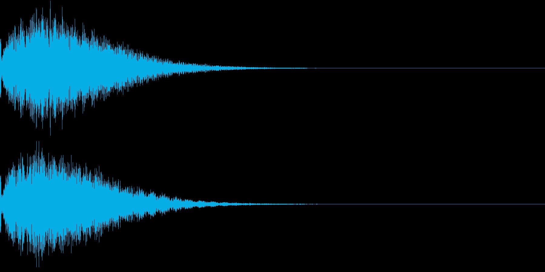 光 キュイン 目立つ カットイン 05の再生済みの波形