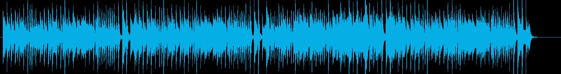 ほのぼのした可愛く明るい楽曲の再生済みの波形