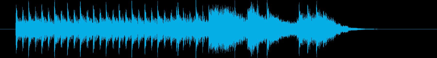 ドラムとギターの王道ロックの再生済みの波形