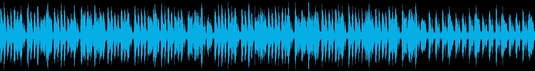 ダーク・夜・速いジプシージャズ(ループの再生済みの波形