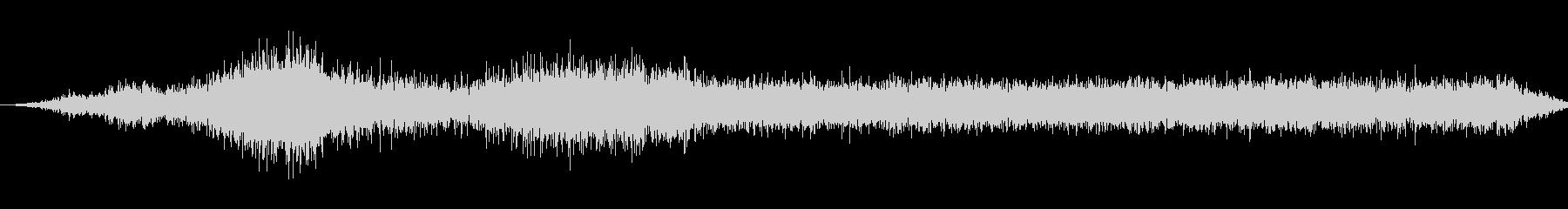 小型ポータブルラジオ:デッドエアの未再生の波形