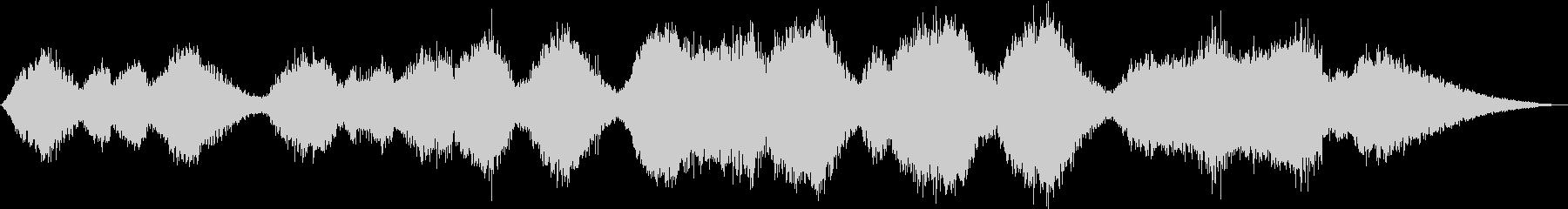 シンセサイザーのみのサウンドエフェクトの未再生の波形