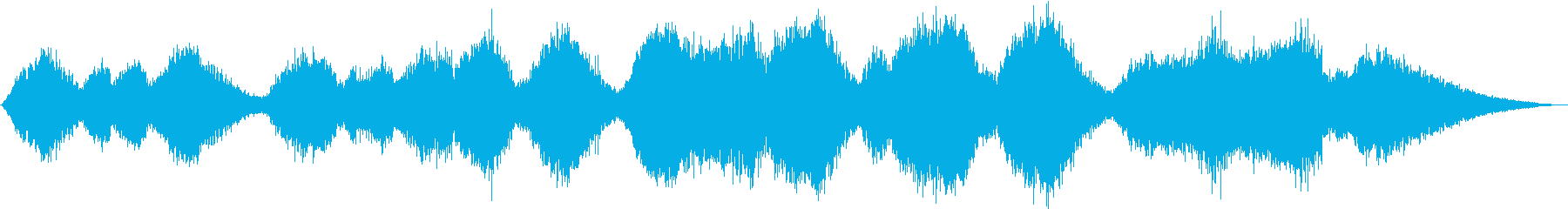 シンセサイザーのみのサウンドエフェクトの再生済みの波形