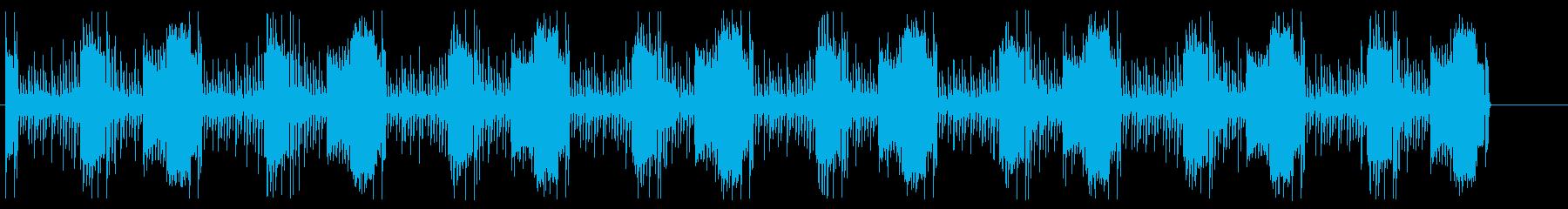 ドラムとベースとシンセ 緊迫ループBGMの再生済みの波形