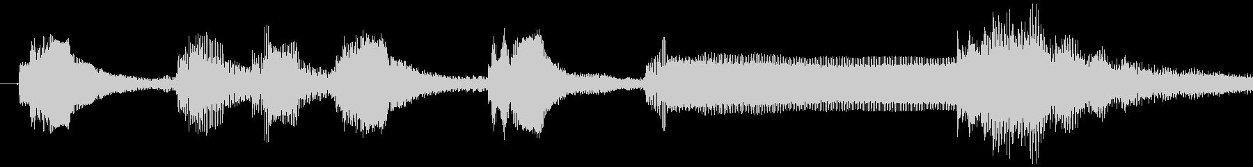 1,明るめのサウンドロゴ (3秒ロゴ)の未再生の波形