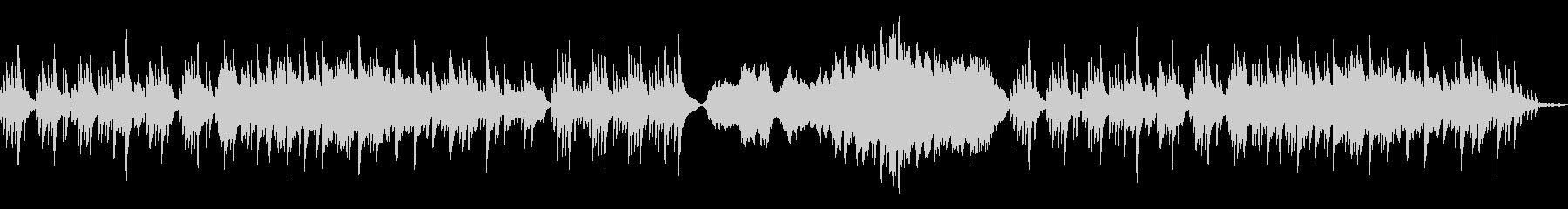 物悲しい雰囲気のBGMの未再生の波形