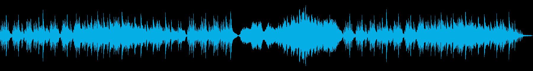 物悲しい雰囲気のBGMの再生済みの波形