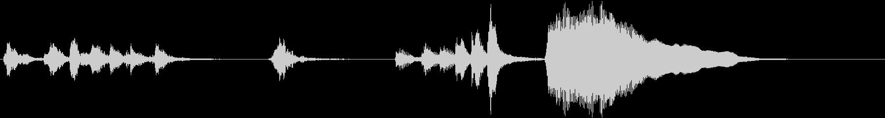 トムとジェリー風なアニメ音楽「忍び足」2の未再生の波形