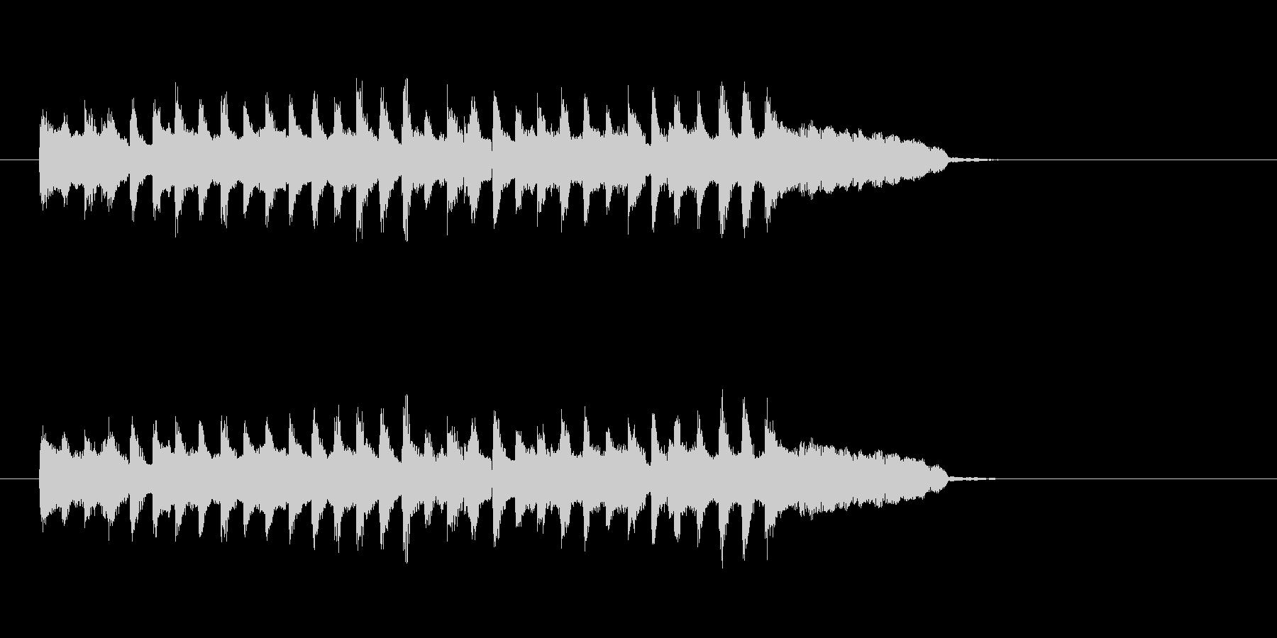 コミカル シンセサイザー ほのぼのの未再生の波形