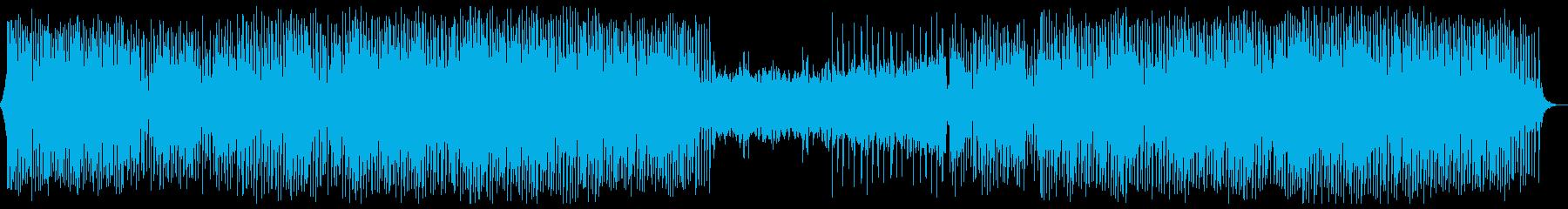 クールなのに哀愁漂う曲の再生済みの波形