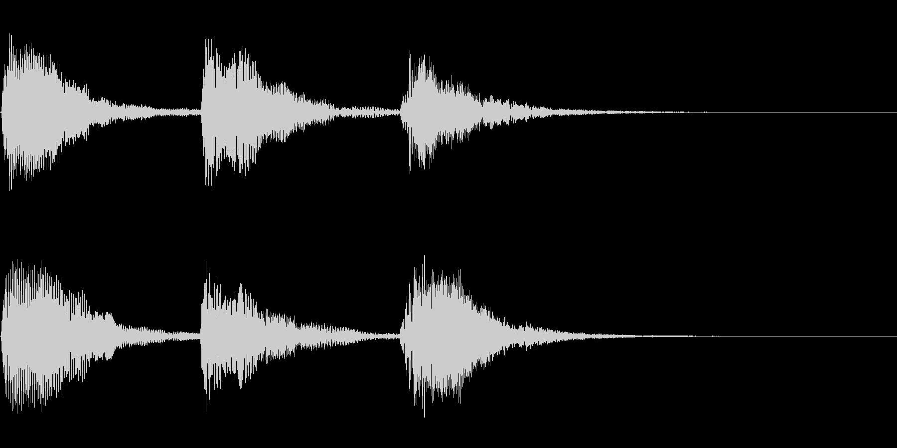 優雅なハープの場面転換の音の未再生の波形