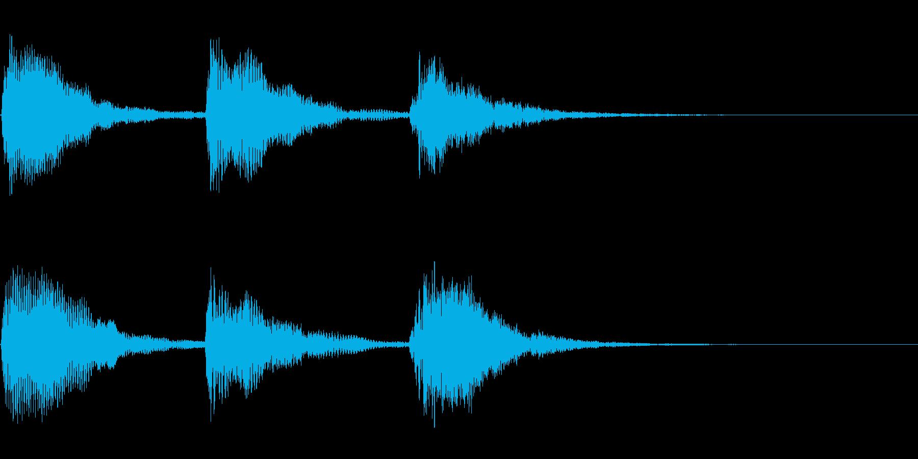 優雅なハープの場面転換の音の再生済みの波形