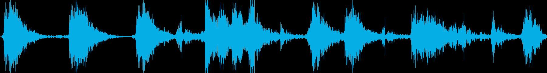 スクラッチ/DJの効果音!08の再生済みの波形