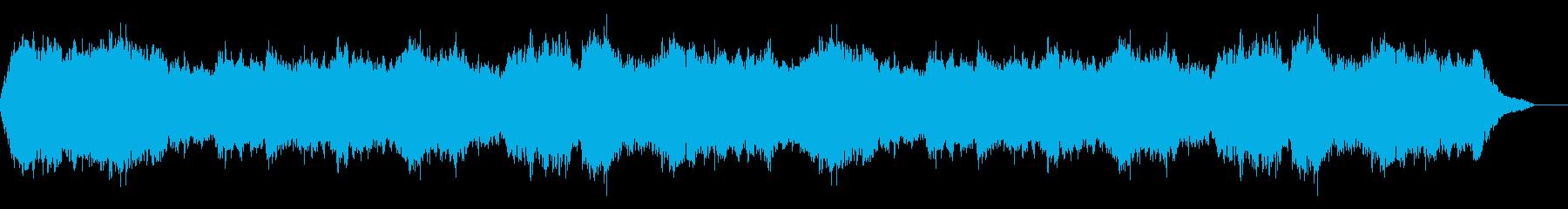宇宙をイメージした神秘的なアンビエント曲の再生済みの波形