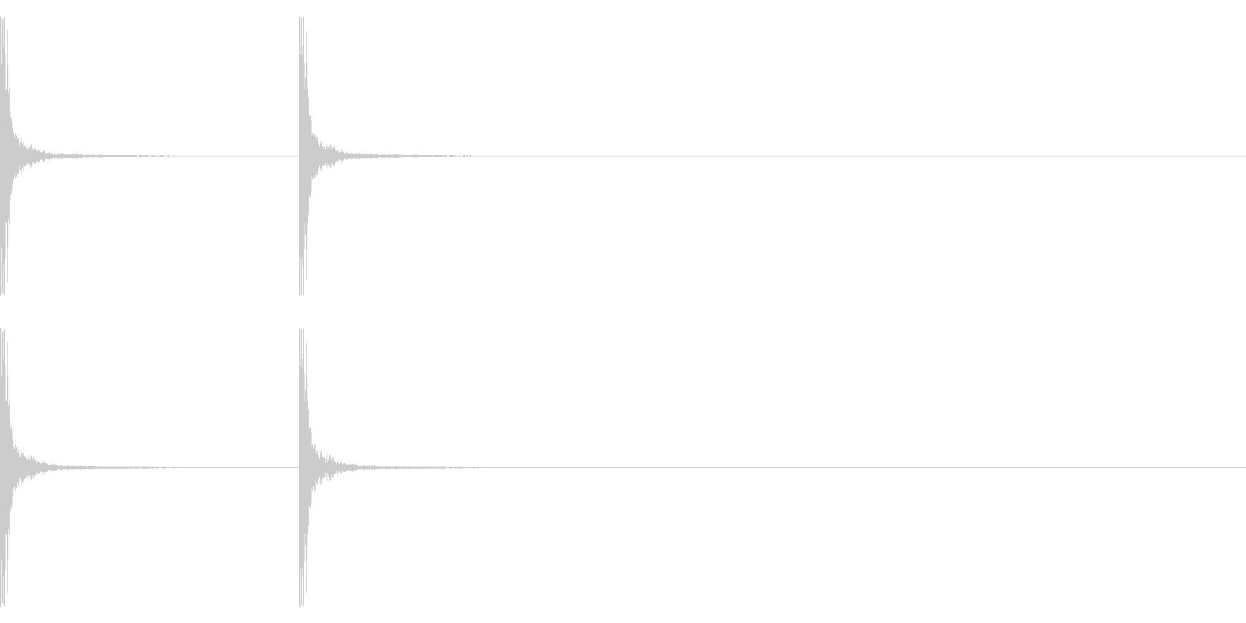 【生録音】拍子木の音 和風 7の未再生の波形