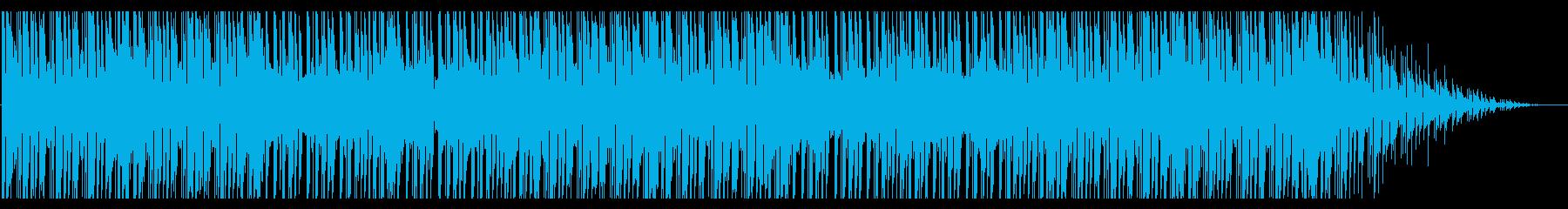 バーチャルの世界に浮くようなBGMの再生済みの波形