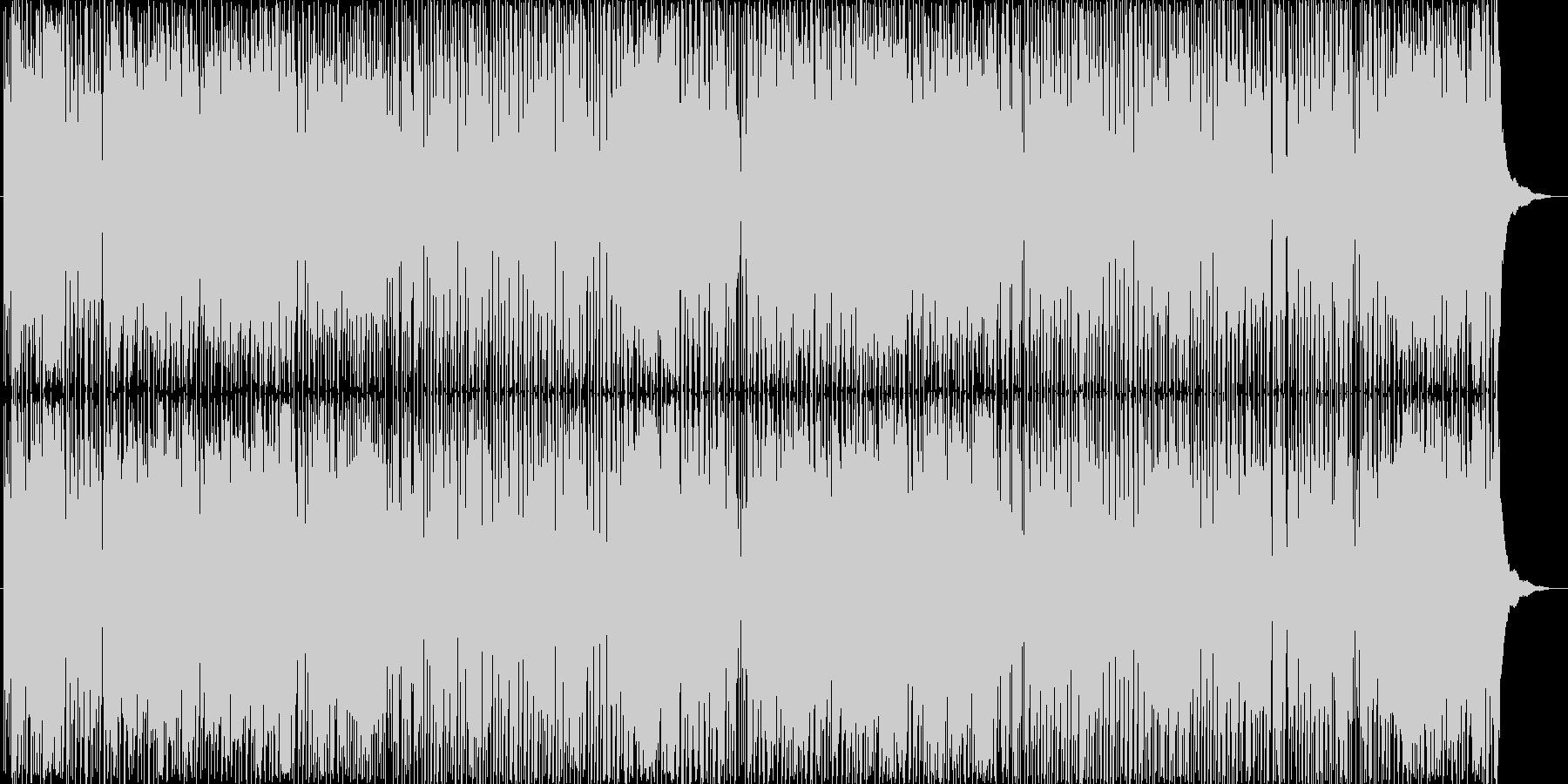 ギターのストロークが軽快な曲の未再生の波形