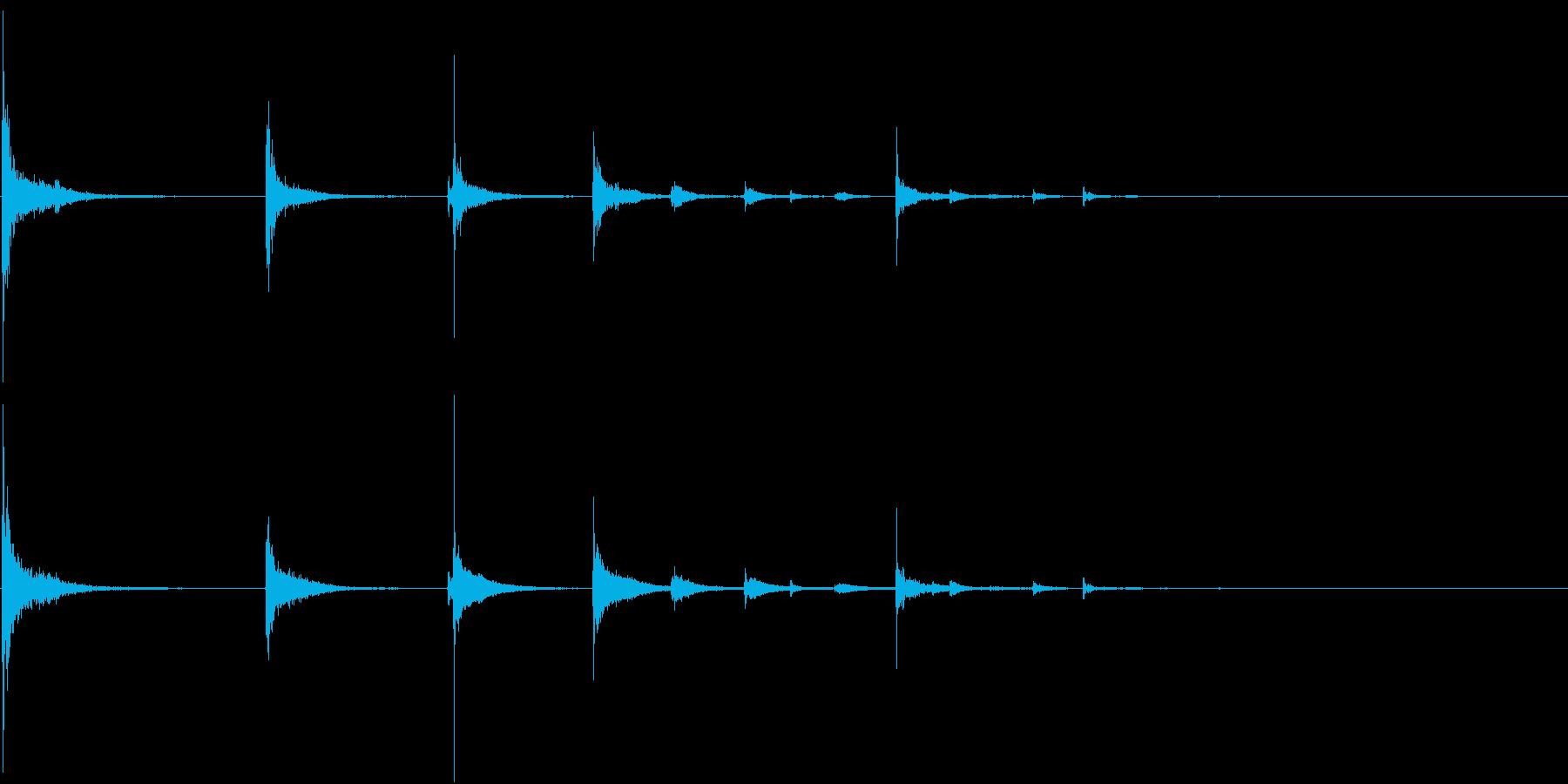 【生録音】ペットボトルを落とす音1 野外の再生済みの波形