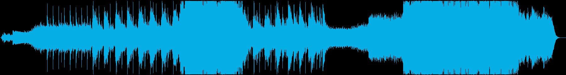 チル:南国の海と波と空をイメージした曲の再生済みの波形